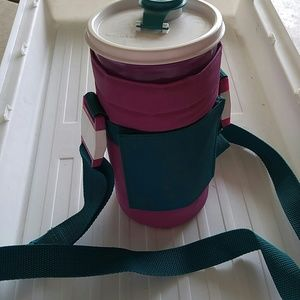 Tupperware cup holder with strap